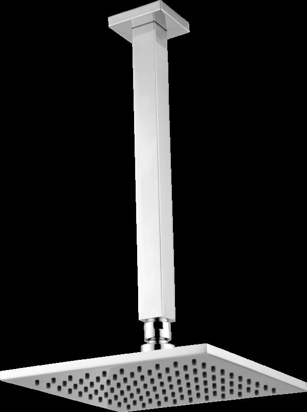 Ducha Fria Articulada Quadratta de Teto com Cano Longo