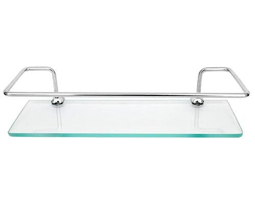 16600 - Porta Shampoo Reto em Alumínio Anodizado