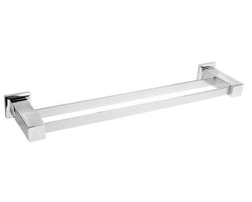 76006 - Porta Toalha Duplo Quadratta em Aço Inox