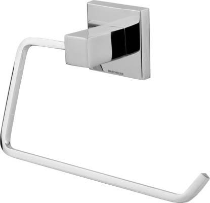 96002 - Porta Toalha Rosto Quadra em Latão