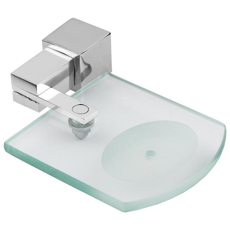 6304 - Saboneteira Acqua Quadrado em Alumínio Anodizado