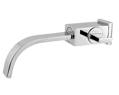 5420 - Torneira Cozinha / Lavatório Plena Bica Móvel Retangular 35 mm com Arejador Fixo Parede - 1/2 ou 3/4